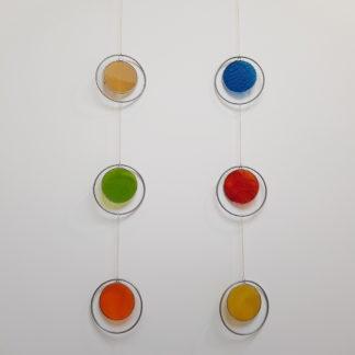 Décorations murales en vitrail à 3 éléments