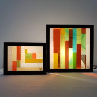 Cadres lumineux en vitrail
