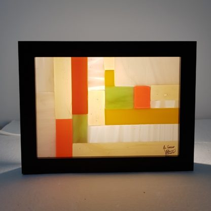 Petit cadre lumineux en vitrail