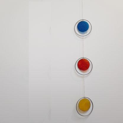 Décoration murale en vitrail à 3 éléments