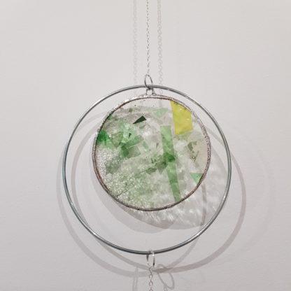 Détail décoration en vitrail