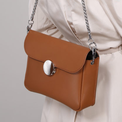 mmini sac en cuir couleur camel