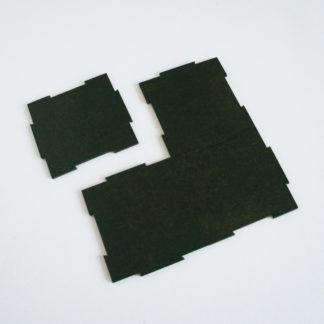 Petits carrés - vert