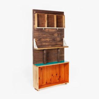 Étagère entrée bois recyclé rustique